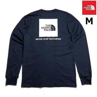ザノースフェイス(THE NORTH FACE)のTHE NORTH FACE  Mサイズ 海外限定 長袖コットンTシャツ(Tシャツ/カットソー(七分/長袖))