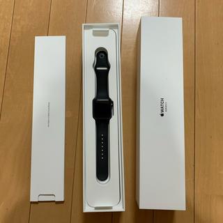 アップルウォッチ(Apple Watch)の美品 Apple Watch Series 3 38mm GPSモデル ブラック(腕時計(デジタル))