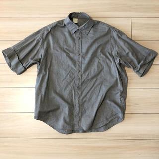 エヌハリウッド(N.HOOLYWOOD)のN.HOOLYWOOD 半袖シャツ グレー サイズ38(シャツ)