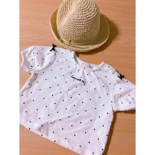 ムジルシリョウヒン(MUJI (無印良品))の80サイズ お洋服と麦わら帽子(Tシャツ)