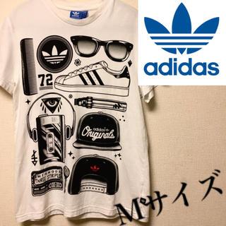 adidas - 【美品】adidas Tシャツ Mサイズ 柄Tシャツ スニーカー 送料無料