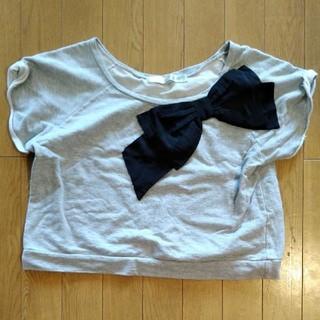 ドットアンドストライプスチャイルドウーマン(Dot&Stripes CHILDWOMAN)のリボントップス(カットソー(半袖/袖なし))