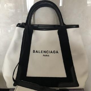 バレンシアガ(Balenciaga)のBALENCIAGA バレンシアガ キャンバス トートバッグ ネイビーカバス(トートバッグ)