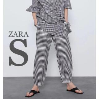 ZARA - 【新品・未使用】ZARA ギンガムチェック スラウチーフィット パンツ S