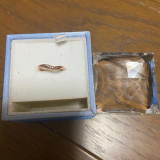 ヨンドシー(4℃)の4℃ ピンクゴールド K10 ダイヤリング 6号 (リング(指輪))