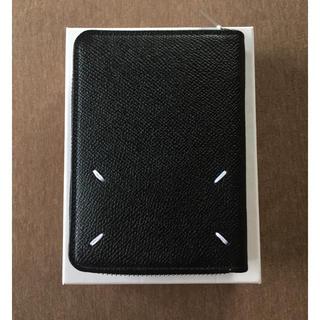 マルタンマルジェラ(Maison Martin Margiela)の20AW新品 メゾン マルジェラ レザー ジップ 折り財布 今期 新作 ブラック(折り財布)