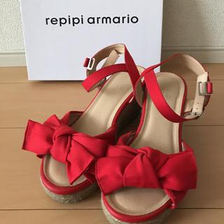 レピピアルマリオ(repipi armario)のレピピアルマリオ ジュートサンダル 24cm(サンダル)
