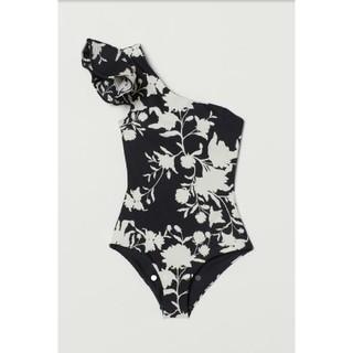 エイチアンドエム(H&M)のJOHANNA ORTIZ x H&M ワンショルダースイムスーツ サイズ38(水着)