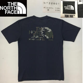 THE NORTH FACE - ノースフェイス◆Tシャツ TEK TEE グレー カモ柄  Mサイズ