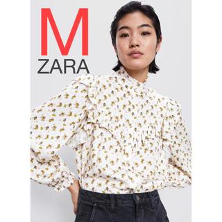 ZARA - ZARA トムとジェリー プリント柄シャツ シャツ トップス フリル
