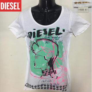 ディーゼル(DIESEL)のディーゼル◆ ロゴ TEE ◆ホワイト Sサイズ(Tシャツ/カットソー(半袖/袖なし))
