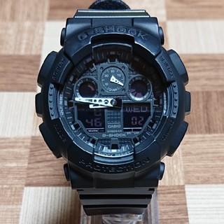 カシオ(CASIO)の【CASIO/G-SHOCK】デジアナ メンズ腕時計 GA-100-1A1JF(腕時計(デジタル))