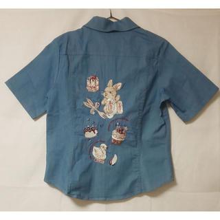 PINK HOUSE - 【タグ付き】ピンクハウス 刺繍デニムシャツ