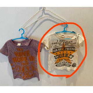 エーアーベー(eaB)の子ども服 Tシャツ 80  2枚セット (Tシャツ)