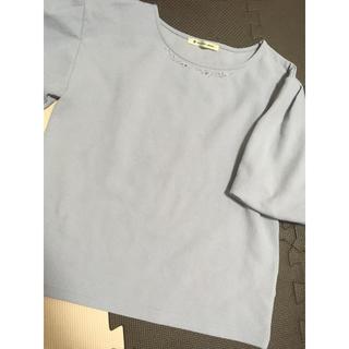 マジェスティックレゴン(MAJESTIC LEGON)のビジュー付き ブラウス(シャツ/ブラウス(半袖/袖なし))