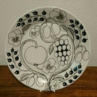 アラビア(ARABIA)のアラビア ブラックパラディシュプレート 旧ロゴ(食器)