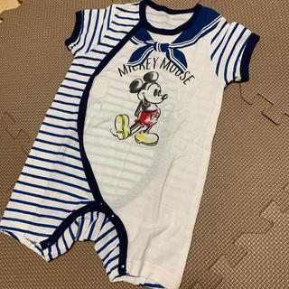 Disney - disneyマリン半袖ロンパース