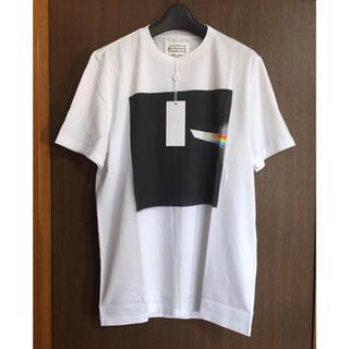 マルタンマルジェラ(Maison Martin Margiela)の白52新品 メゾン マルジェラ Tシャツ スプレープリント カットソー メンズ (Tシャツ/カットソー(半袖/袖なし))
