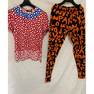 ルイヴィトン(LOUIS VUITTON)のLV レギンス グラフィティー+tシャツ S セット(Tシャツ(半袖/袖なし))