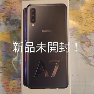 Galaxy - 新品迅速★GaraxyA7ブラック★楽天モバイル4GB RAM 64GB ROM