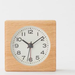 ムジルシリョウヒン(MUJI (無印良品))の無印良品  ブナ材時計  新品未使用  (置時計)