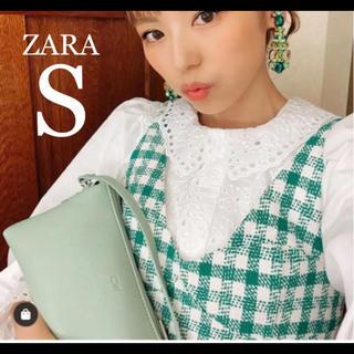 ZARA - 【新品・未使用】ZARA ポプリン  レース シャツ S