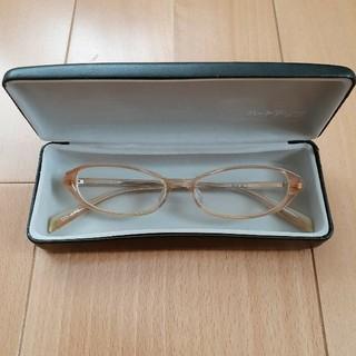 レディース 度あり 眼鏡 オレンジ(サングラス/メガネ)