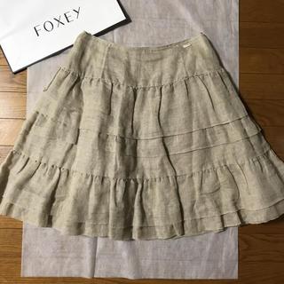 """FOXEY - 【美品】フォクシー☆スカート """"リネンホイップ"""" 40"""