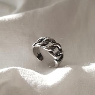 マウジー(moussy)の【 再入荷 】925 wide chain ring *(リング(指輪))