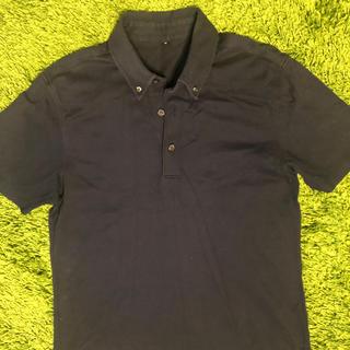 ムジルシリョウヒン(MUJI (無印良品))の無印良品 ポロシャツ  M  紺色(ポロシャツ)
