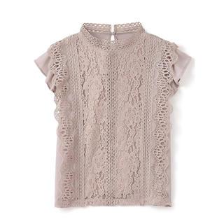 GRL - GRL レースブラウス ピンク 新作 人気  韓国ファッション フリル 春 夏