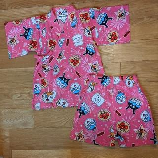 アンパンマン - 新品タグ付き アンパンマン 甚平 90 女の子 ピンク
