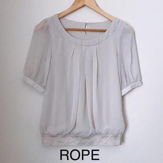 ロペ(ROPE)の【ROPE】ブラウス ベージュ(シャツ/ブラウス(半袖/袖なし))