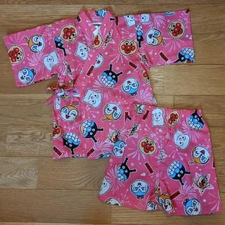 アンパンマン(アンパンマン)の新品タグ付き アンパンマン 甚平 95 女の子  ピンク(甚平/浴衣)