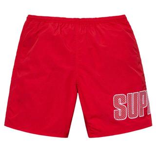 シュプリーム(Supreme)のsupreme water shorts 赤M(水着)
