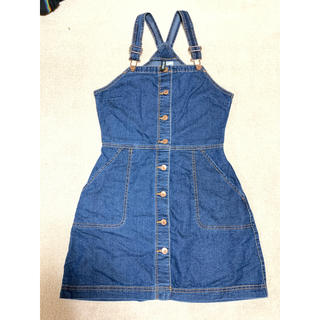 エイチアンドエム(H&M)のH&M デニムジャンバースカート(ひざ丈スカート)