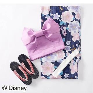 ディズニー(Disney)の【新品】浴衣 レディース ラプンツェル 花柄  4点セット ディズニー  桜(浴衣)