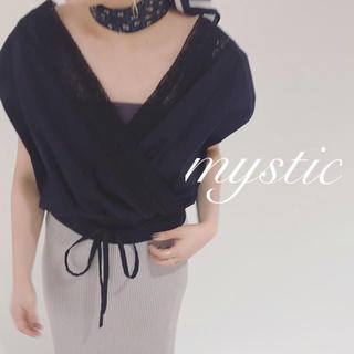 mystic - 新品🍒¥5940【mystic】カシュクールレースブラウス