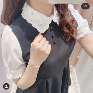 evelyn - 【evelyn】フラワー刺繍襟タックワンピース 2020 夏 新作