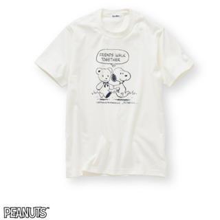 ファミリア(familiar)の【新品】ファミリア スヌーピー コラボTシャツ ホワイト(Mサイズ レディース)(Tシャツ(半袖/袖なし))