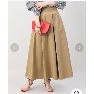 スピックアンドスパン(Spick and Span)のspick&span  チノタックボリュームスカート(ロングスカート)