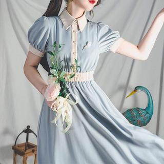 F i.n.t - マヌスマシーナ 白藍の妖精王妃ワンピース