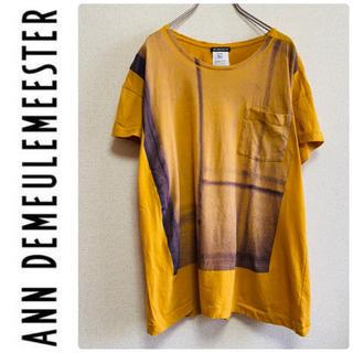 アンドゥムルメステール(Ann Demeulemeester)の一点物 アン ドゥムルメステール プリント カットソー Tシャツ(Tシャツ/カットソー(半袖/袖なし))