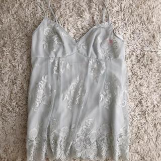 AMO'S STYLE - キャミソール アモスタイル  ドレス 水色 レース