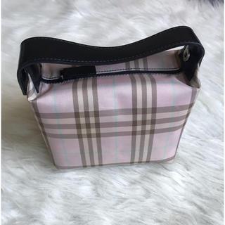 BURBERRY - レア 美品 バーバリー ポーチ ハンドバッグ ピンク