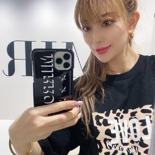 MIRROR9 HAPPY BAG 限定Tシャツ レオパード ヒョウ柄 ブラック(Tシャツ(半袖/袖なし))