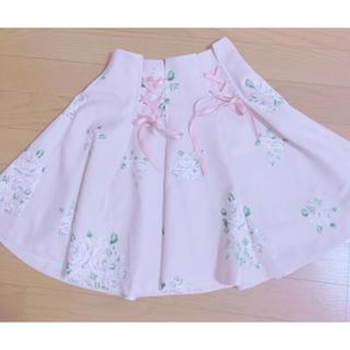 evelyn - evelyn 花柄編み上げサイドリボンスカート♡