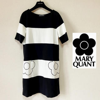 MARY QUANT - 【マリークワント】ボーダーワンピース バイカラー