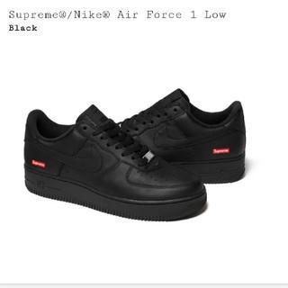 Supreme - Supreme NIKE AIRFORCE1 black 黒 ブラック