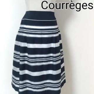 クレージュ(Courreges)のクレージュ ボーダー シフォン スカート(ひざ丈スカート)